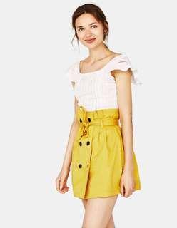 Bershka -Paperbag Mini Skirt With Belt👗