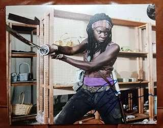 Michonne The Walking Dead handsigned autographed photo
