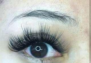 eyelash extension curly volume