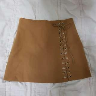 A-Line Shoelace Skirt