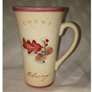 Russ Berrie Count Blessings Ceramic Mug Hand Painted