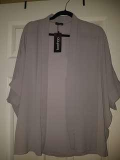 Boohoo light grey cardigan s/m
