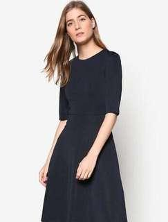 Fit and Flare Dress Zalora