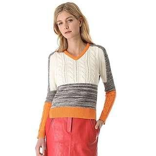 🚚 Carven 撞色針織毛衣