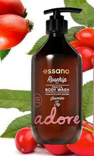 😍 WOW $2.55 SALE!! Essano Adore Rosehip Oil Repairing Body Wash | 445ml