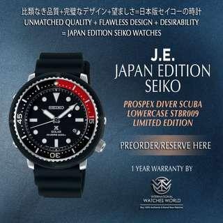 SEIKO JAPAN EDITION PROSPEX SOLAR DIVER SCUBA RED BLACK BEZEL LIMITED EDITION 2000PCS STBR009