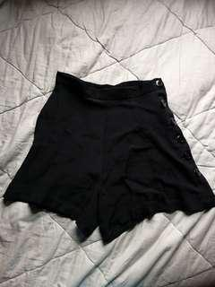 Black high rise shorts | Betsey Johnson