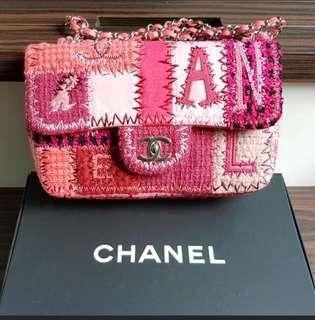 Chanel Pink Tweed And Leather Bag