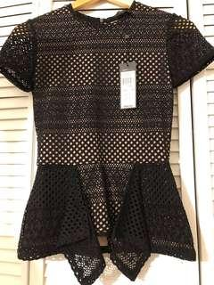 New with tags Black+Nude BCBG Top - XXS - Retail: $187