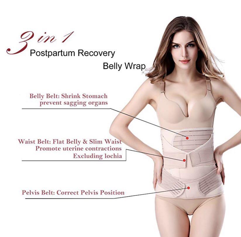 77914b61a9 3 in 1 Postpartum Support Recovery Belly Wrap Waist Pelvis Belt Body ...