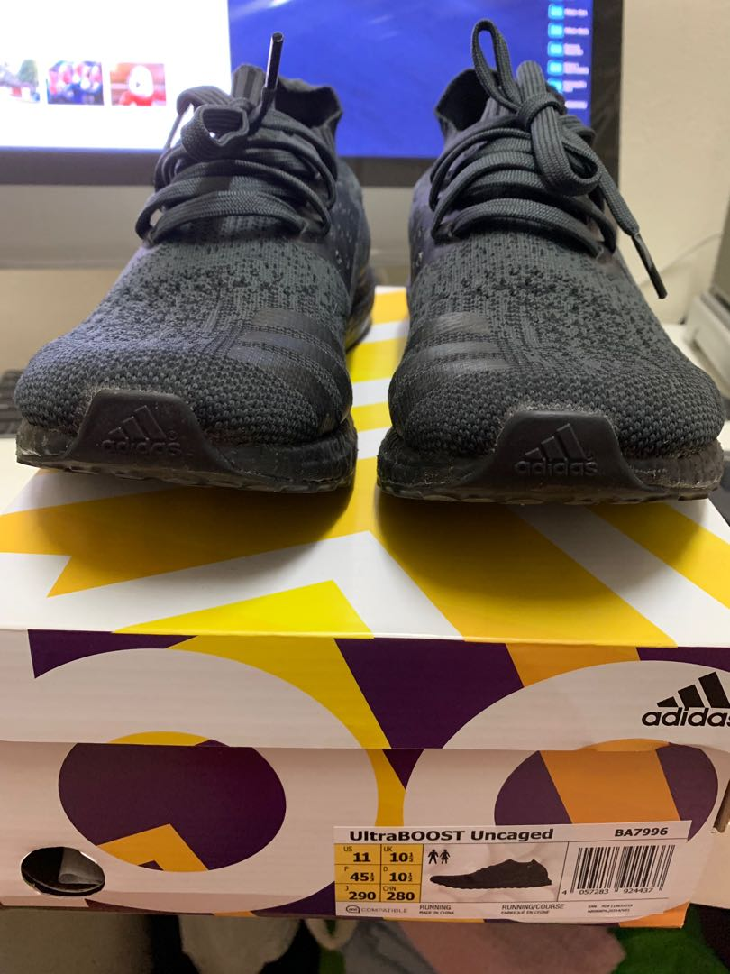 db560e2f Adidas Ultra Boost Uncaged Triple Black (US 11), Men's Fashion, Footwear,  Sneakers on Carousell