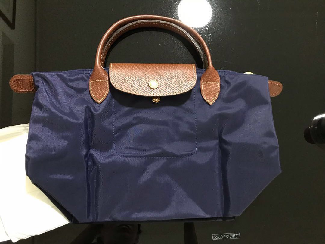 Authentic brand new Longchamp le pliage small handbag purple mini ... ef7cf3fe406ea