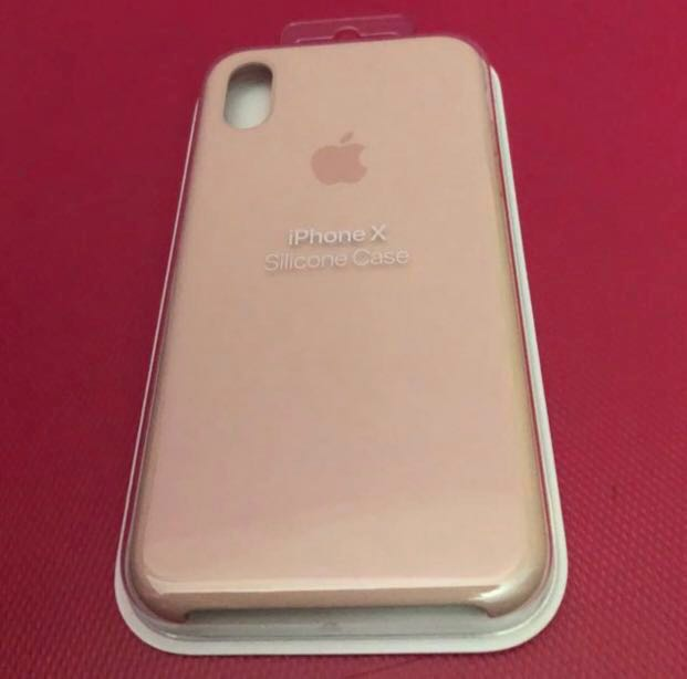 online store 6ba91 61a9c Authentic iPhone X (Pink Sands) Silicone Case