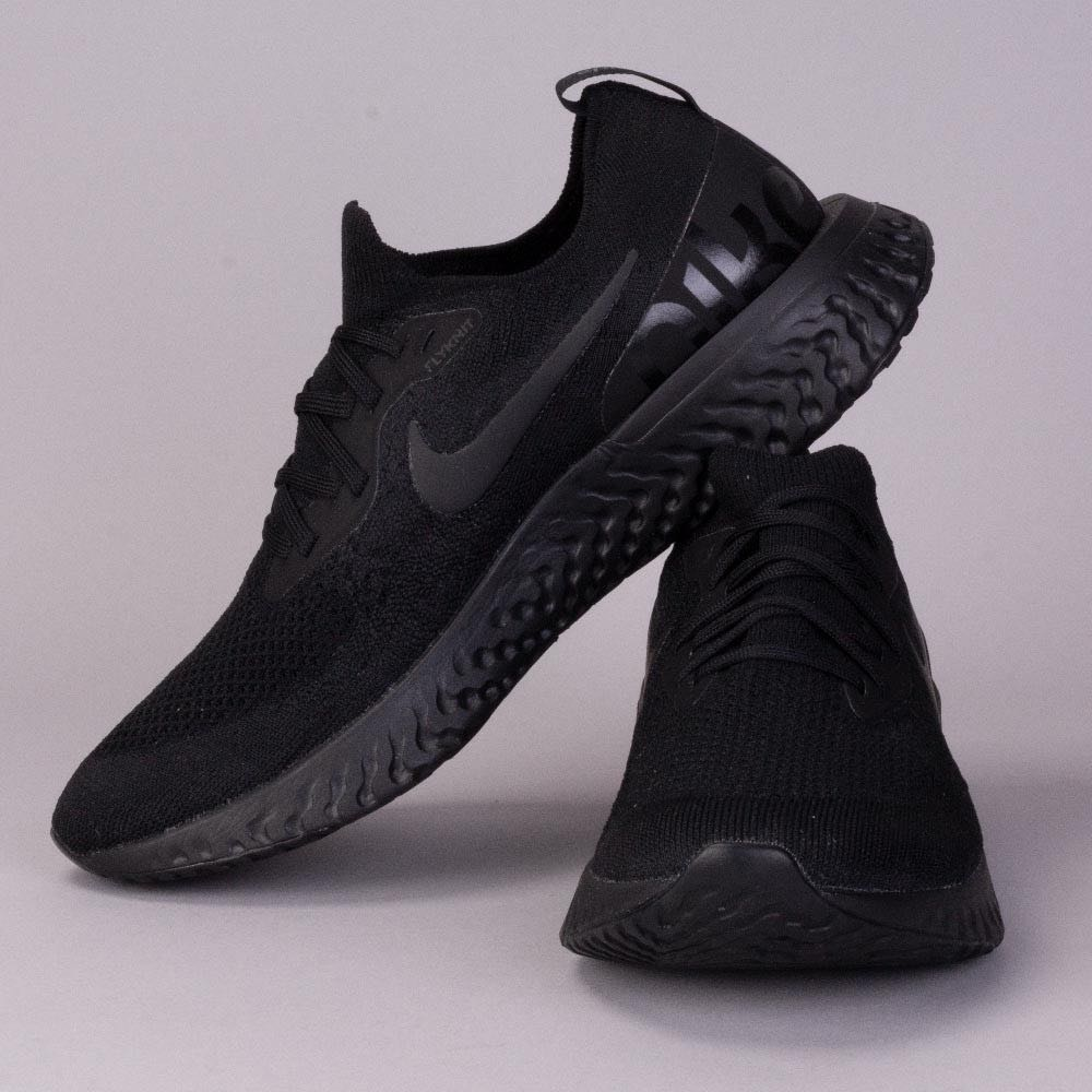 3a290444f948 Authentic Nike Epic React Flyknit Triple Black