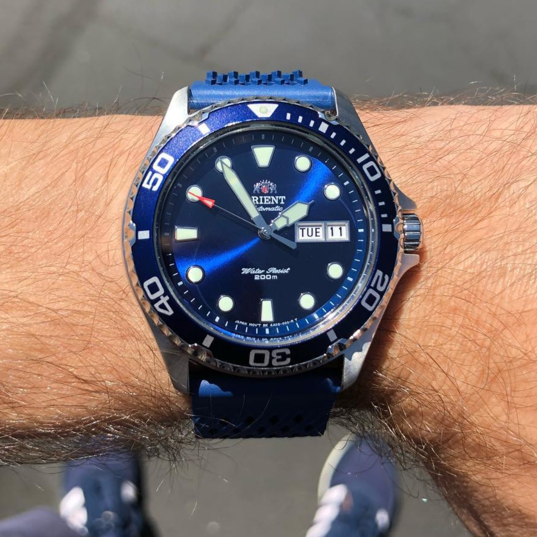 Bnib Orient Ray Ii Blue Dial Automatic Power Reserve 200m