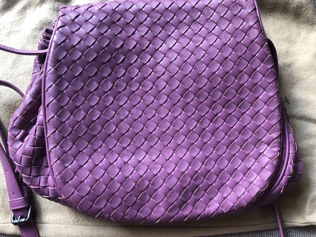 15411e64e0 Bottega Veneta purple sling bag