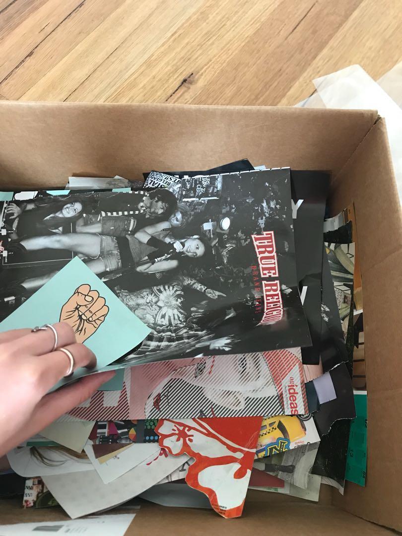 Box of magazines