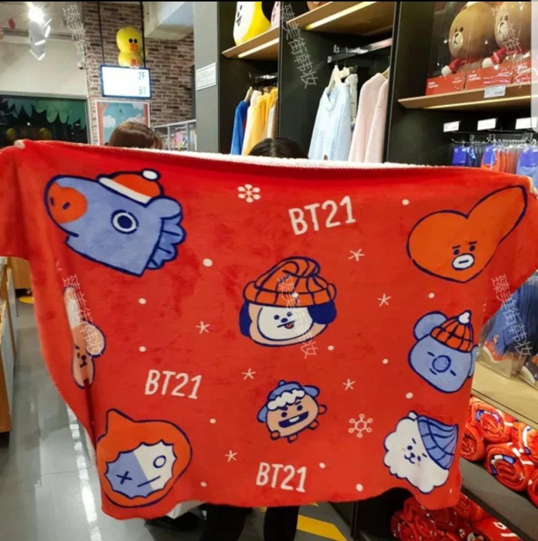 Christmas Fleece.Closed Bt21 Christmas Fleece Blanket