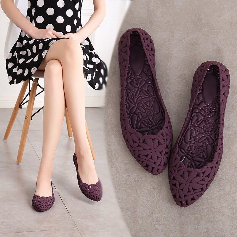 Flat shoe pumps covered Toe woman Plain