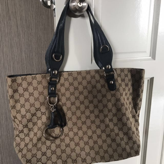 02049d01b49 Gucci Large Tote with Blue handle