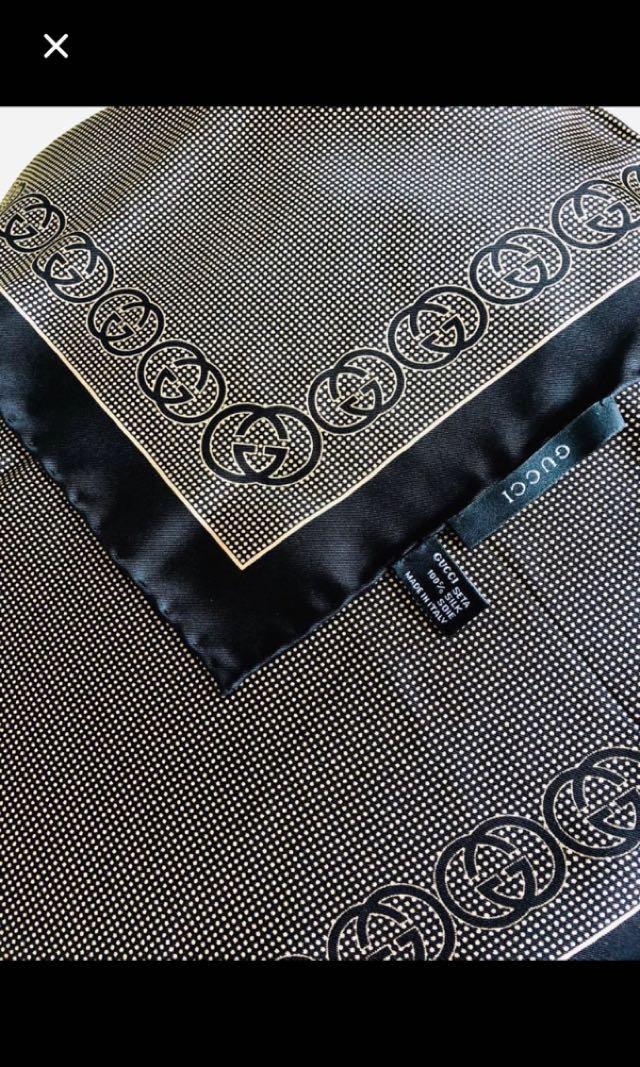 Gucci scarf真絲圍巾