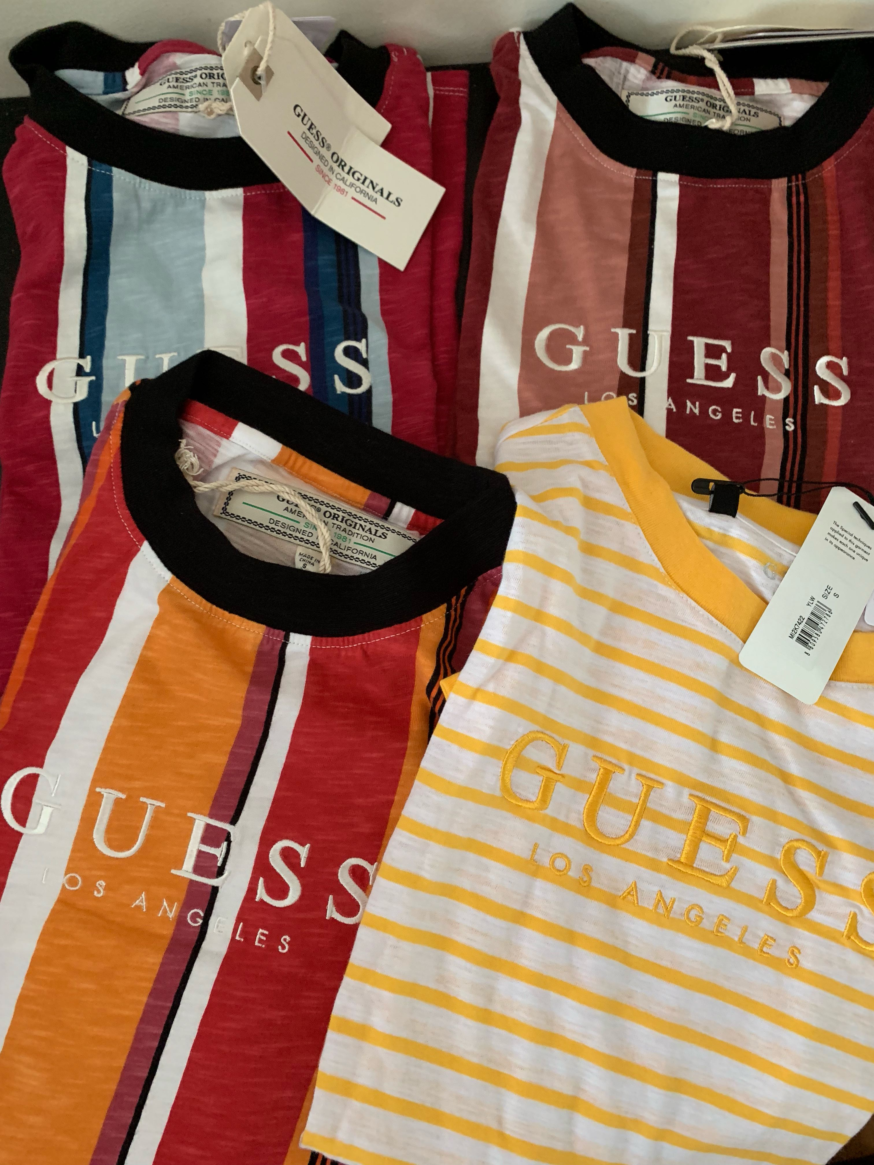 ea68e41e88 Guess Originals Striped Tee, Men's Fashion, Clothes, Tops on Carousell
