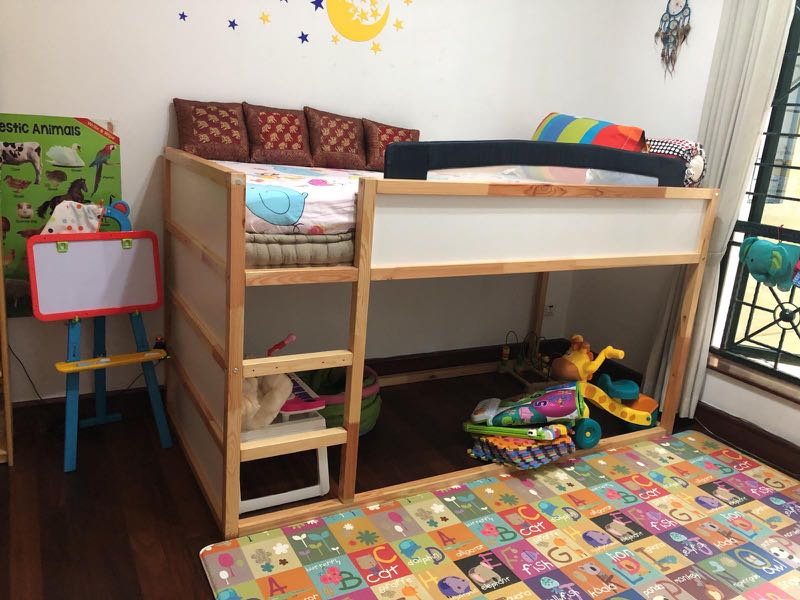 Ikea Reversible Bunk Bed With Mattress Ikea Kura
