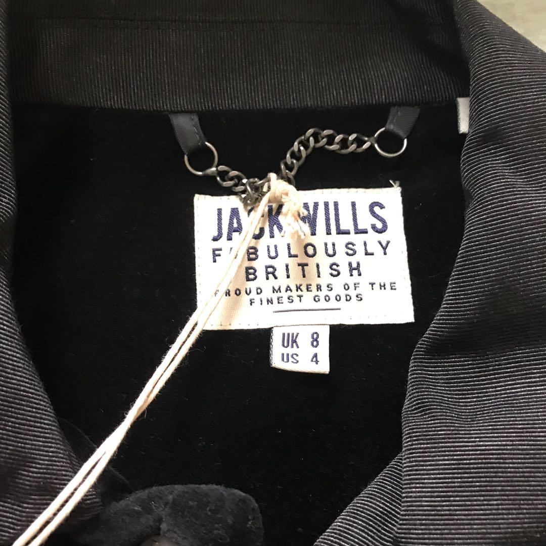 Jack wills jacket coat black winter autumn blazer