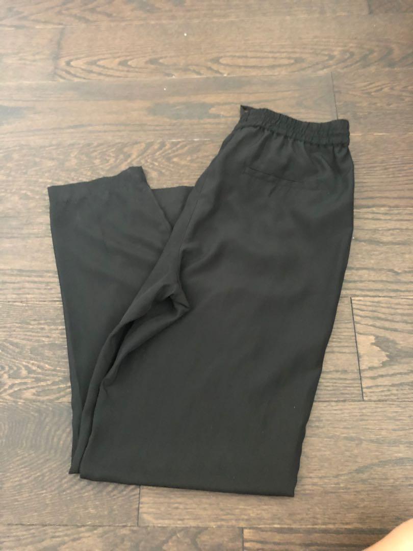 Joe fresh black silk pants
