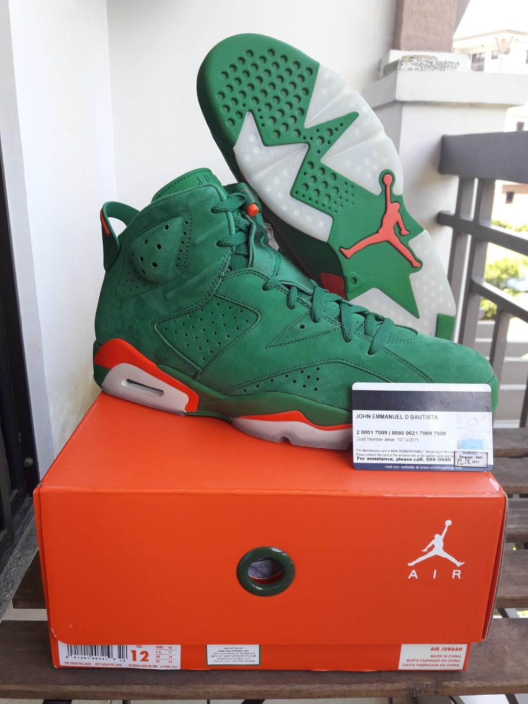 new product 5c328 38639 Jordan 6 Gatorade Green Size 12 on Carousell