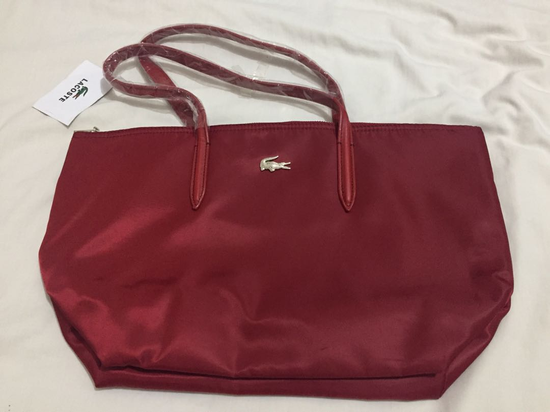51dc1933b51 Lacoste Maroon Bag, Women's Fashion, Bags & Wallets on Carousell
