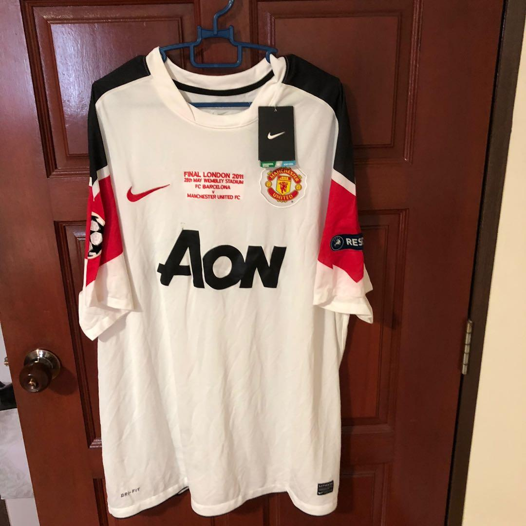 promo code e2758 8babe Manchester United Champions League Final 2011 Jersey, Sports ...