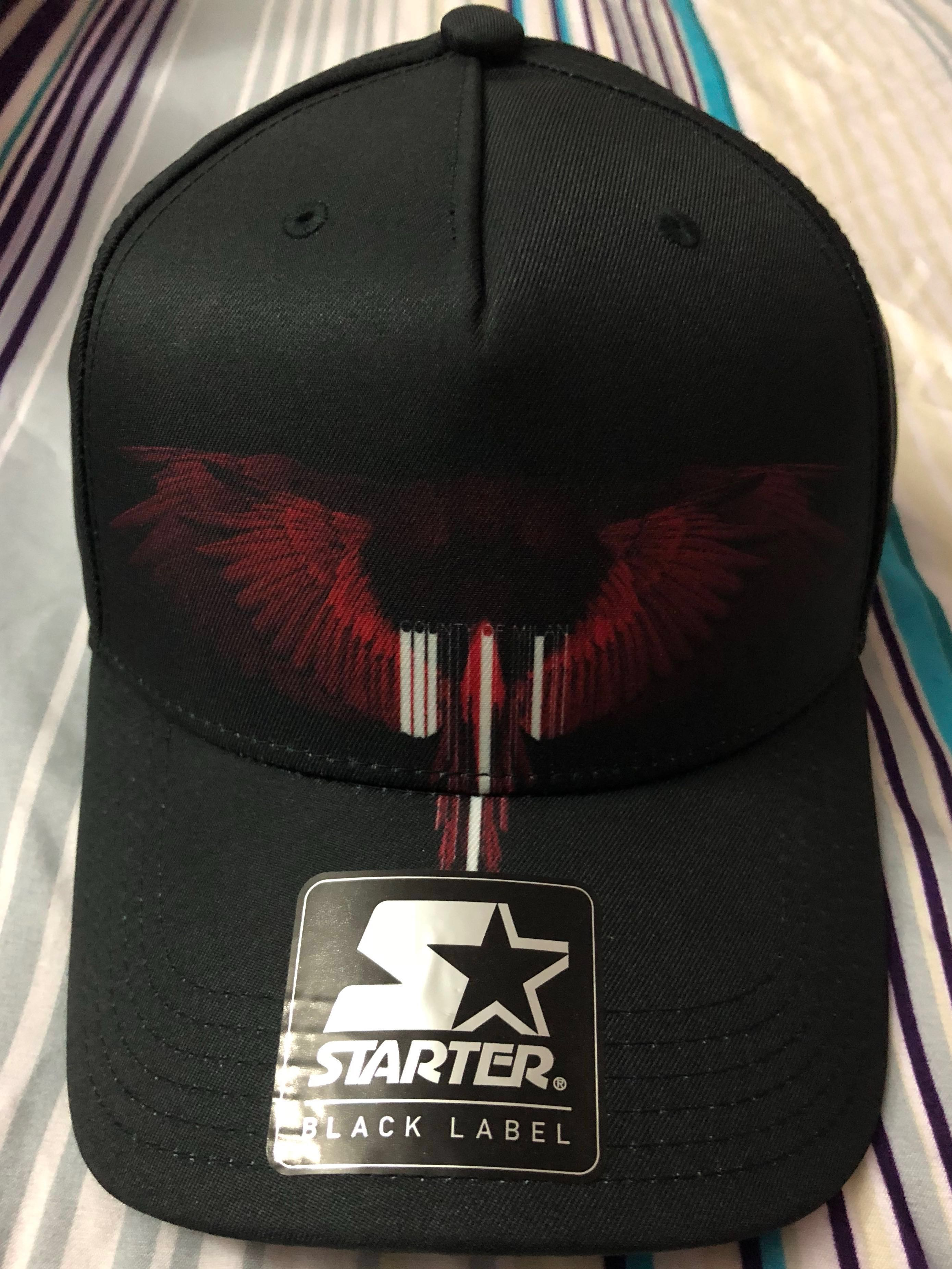 64538a8c837 Marcelo Burlon black and red wings baseball cap