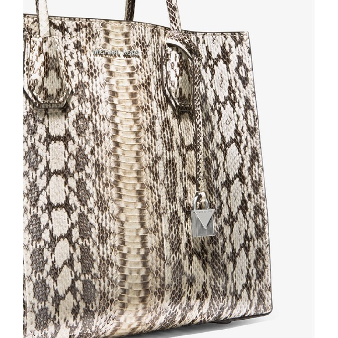 c30e7fd0a3df Mercer Snakeskin Tote, Women's Fashion, Bags & Wallets, Handbags on  Carousell