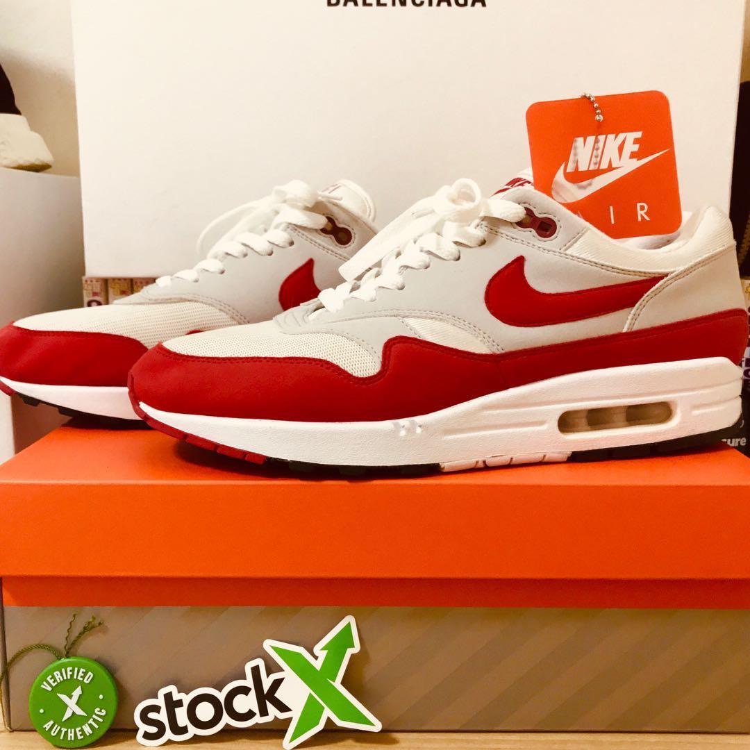 989dda756caa68 Nike Air Max 1 OG 2017 RED US11 Airmax One