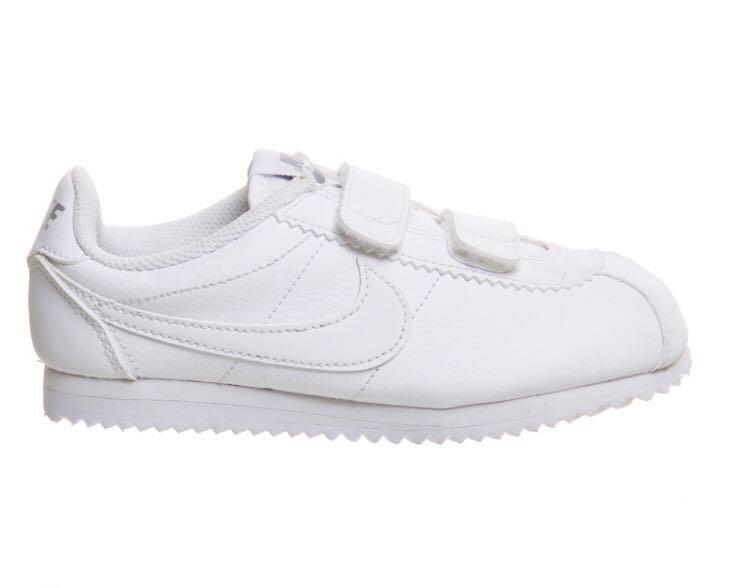 all white nike cortez kids buy clothes