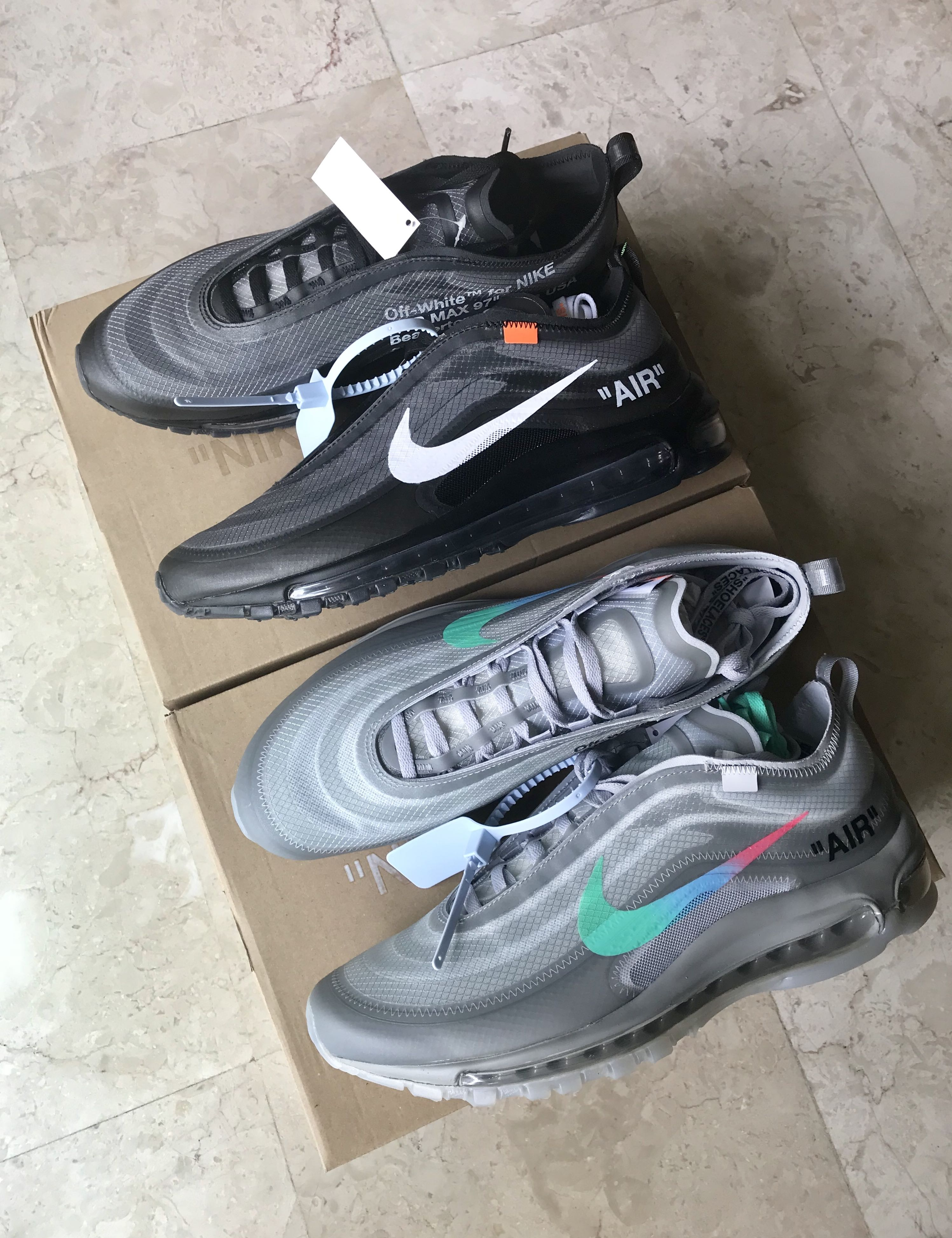 "Off White Nike Air Max 97 ""Menta"" and ""Black"" 1793ee080"