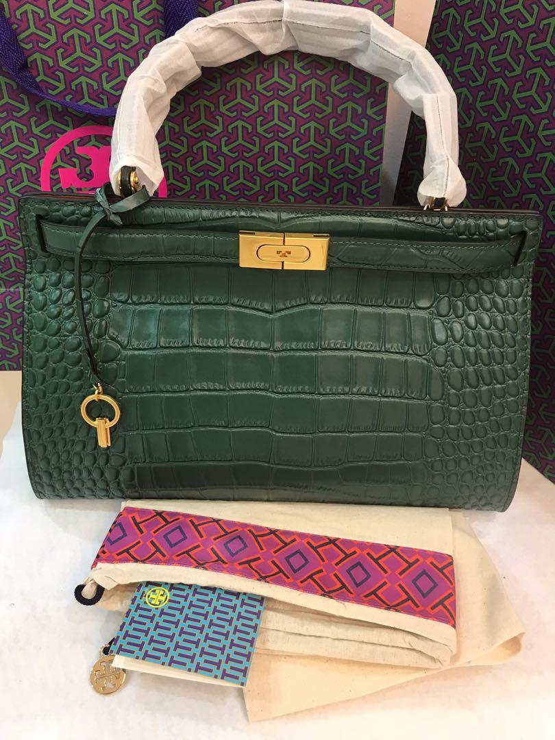 3dc21a2671fa Original Tory Burch Lee Radziwill embossed satchels