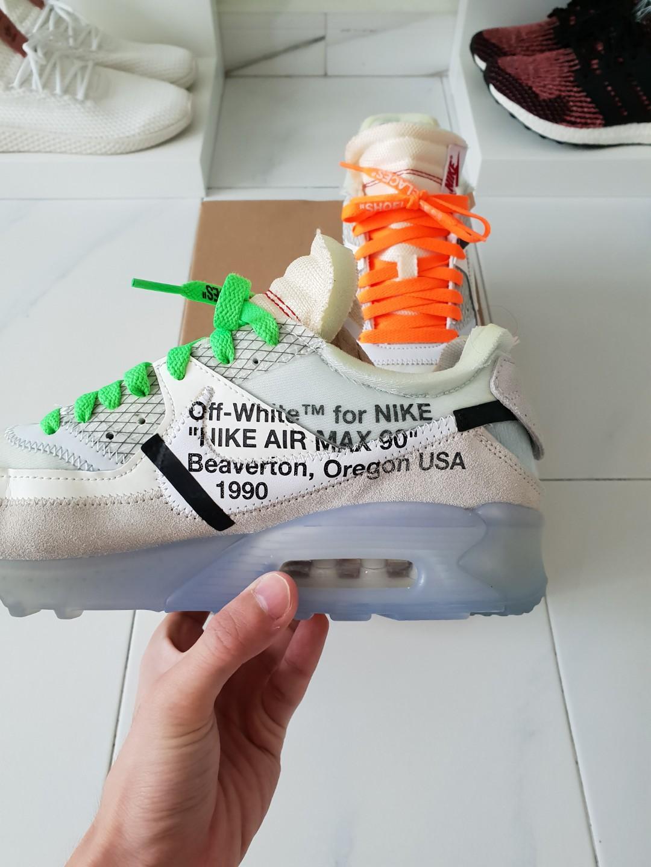 OW x Nike Air Max 90 OG, Men's Fashion
