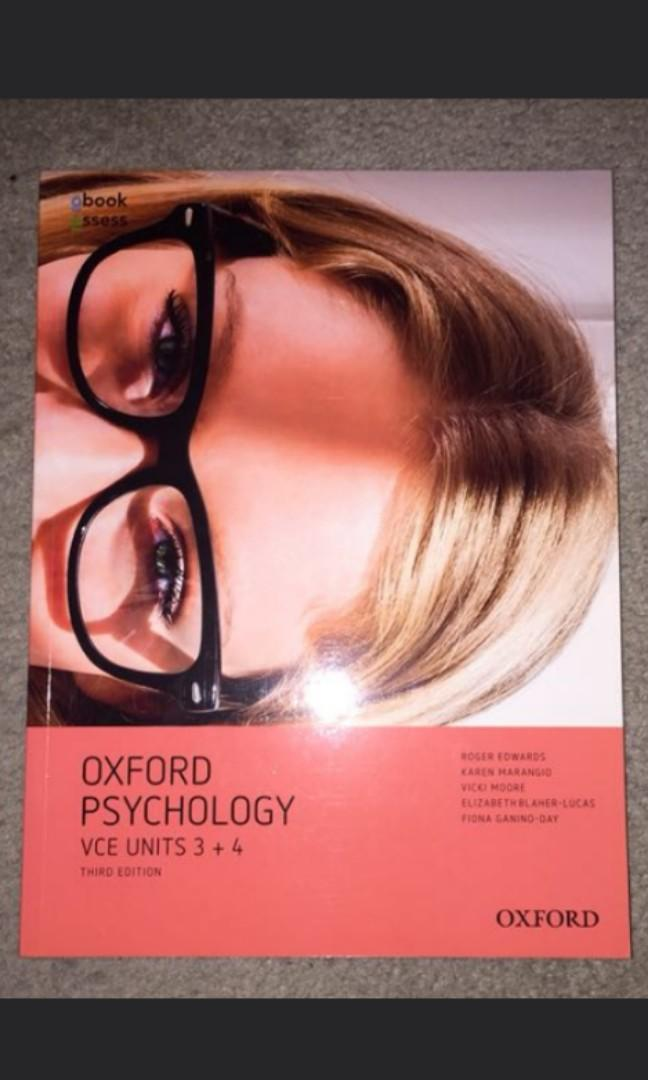 oxford 34 vce psychology book 3rd edn