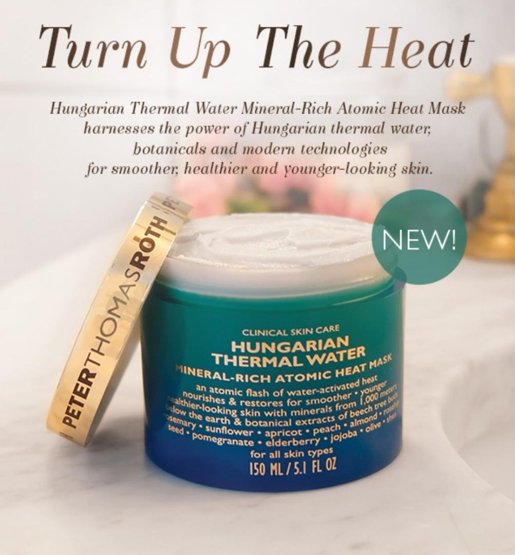 PETER THOMAS ROTH Hungarian Thermal Water Mineral-Rich Atomic Heat Mask