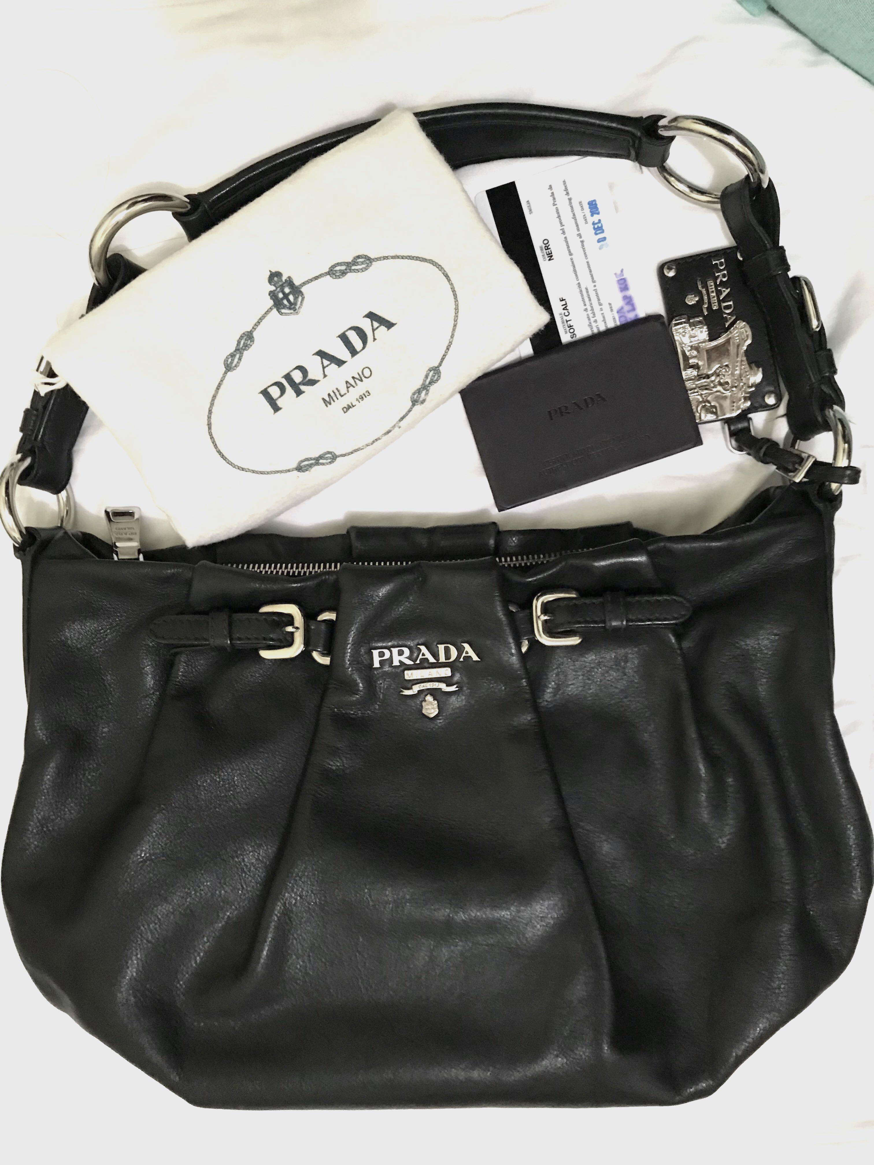 6bbad8cbea PRADA Nero Shoulder Bag (soft calf leather)