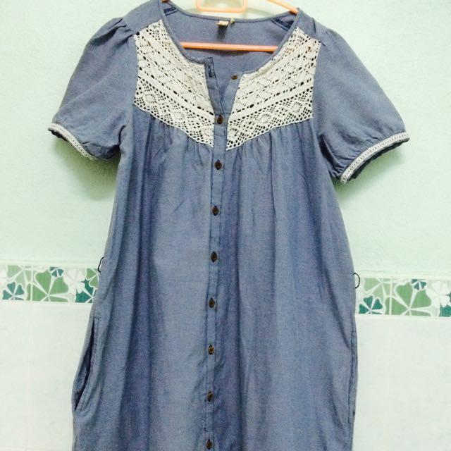 Preloved : Denim blouse (Vintage)