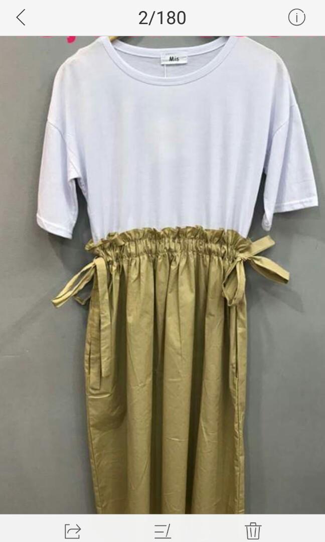 506294684e9 Pull waist Maxi Dress Navy blue