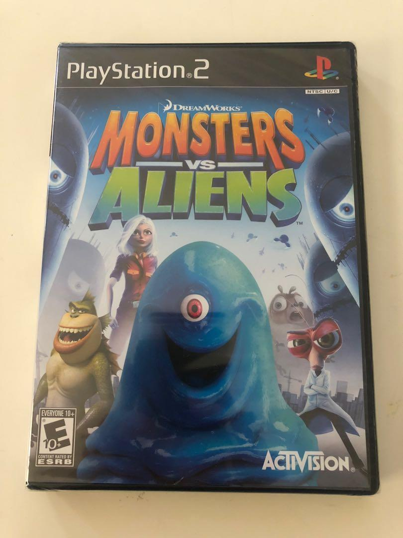 Sony PlayStation 2 PS2 Dreamworks Activision Monsters Vs Aliens Game