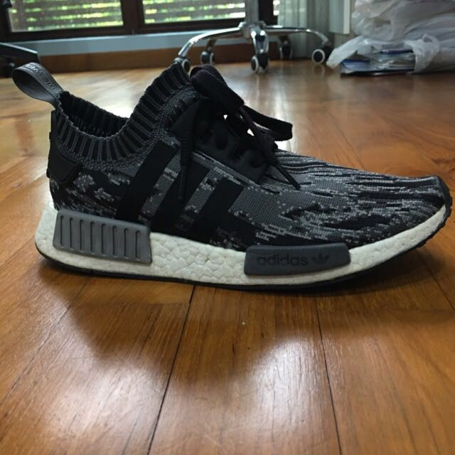 993d5e9c4297c STEAL   Price Reduced  NMD R1 PK Glitch Camo Grey Three