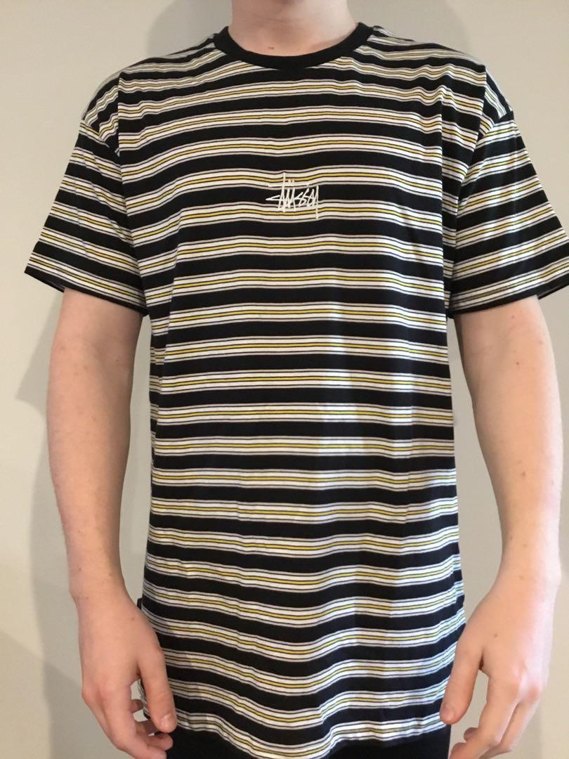 Stussy Graffiti Striped Tee