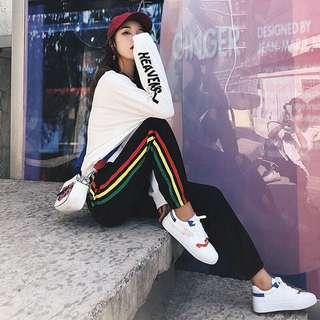 [PO] Rainbow Side Stripe Sweatpants Joggers