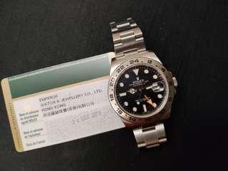 888 香港行貨 Rolex Explorer II 216570