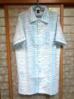 🚚 ⚡淺藍色白虎長版襯衫⚡